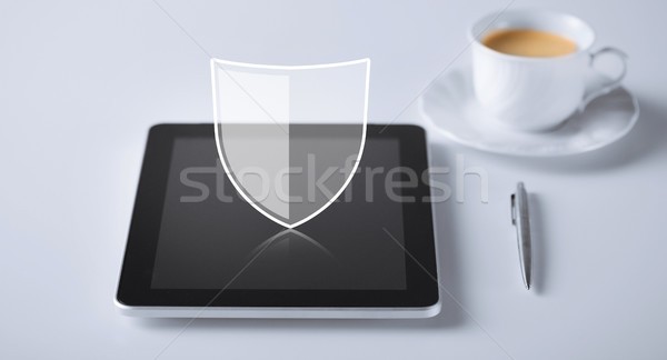 Virtueel antivirus programma icon internet Stockfoto © dolgachov