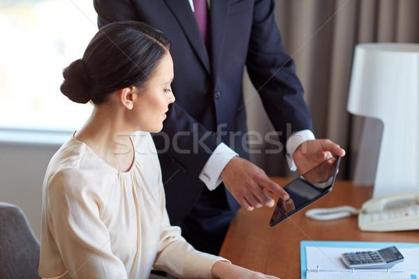 Business team werken hotelkamer zakenlieden teamwerk Stockfoto © dolgachov