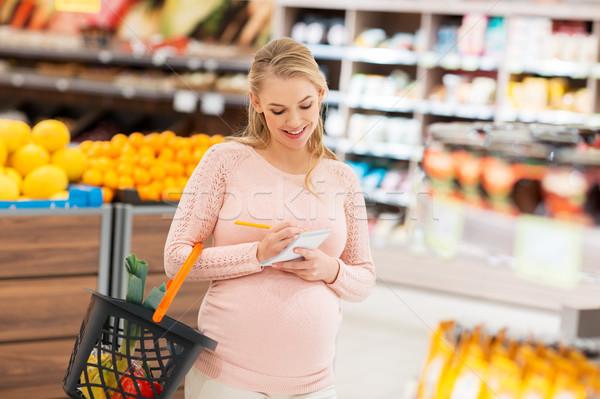 妊婦 食料品 販売 ショッピング 食品 ストックフォト © dolgachov