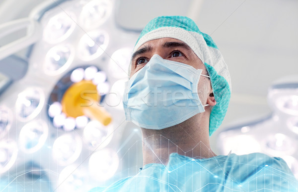 surgeon in operating room at hospital Stock photo © dolgachov