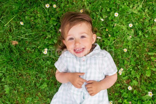 Mutlu yeşil yaz alan çocukluk Stok fotoğraf © dolgachov