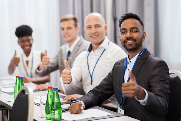 Insanlar iş konferans jest Stok fotoğraf © dolgachov