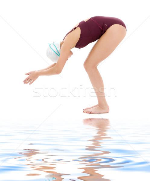 スイマー 明るい 画像 女性 白 水 ストックフォト © dolgachov