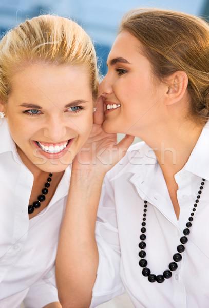 Sırları resim iki mutlu genç Stok fotoğraf © dolgachov