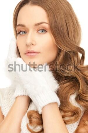 Güzel bir kadın sutyen parlak resim kadın Stok fotoğraf © dolgachov