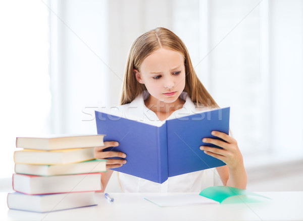 девушки изучения чтение книга школы образование Сток-фото © dolgachov