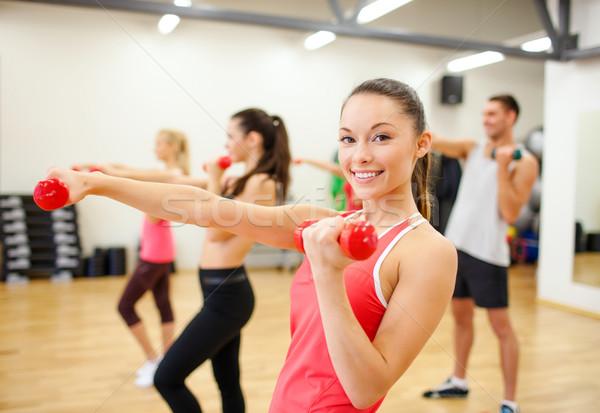 Stockfoto: Groep · mensen · fitness · sport · opleiding