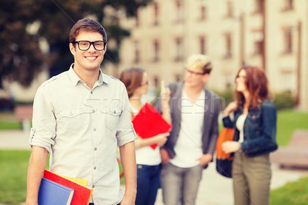 Klasgenoten Maakt een reservekopie zomer vakantie onderwijs Stockfoto © dolgachov