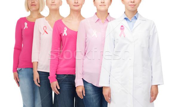 Foto stock: Mulheres · câncer · consciência · saúde