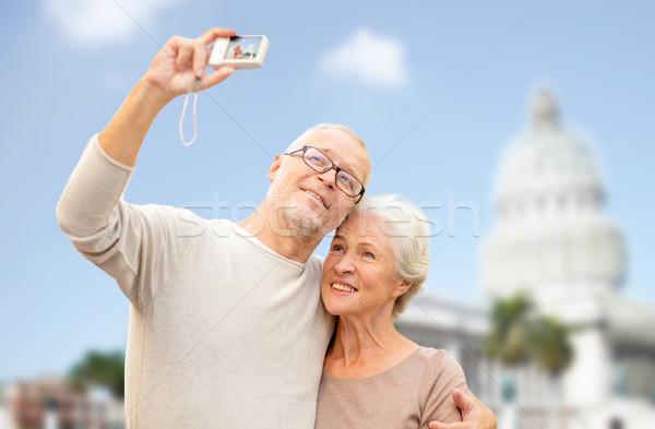 カメラ 白い家 年齢 観光 旅行 ストックフォト © dolgachov