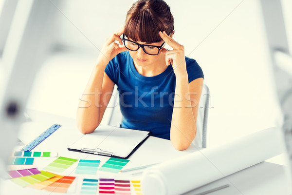 stressed interior designer Stock photo © dolgachov
