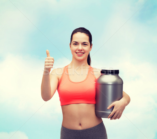 Jar proteína fitness Foto stock © dolgachov