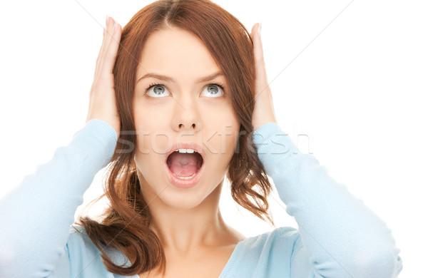screaming woman Stock photo © dolgachov