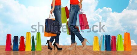 Kadın yüksek topuklu insanlar satış Stok fotoğraf © dolgachov