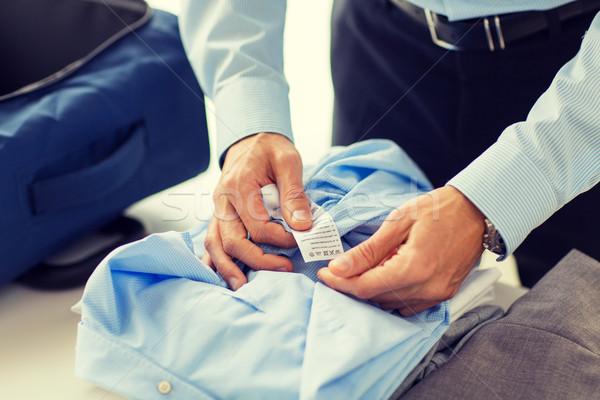 Stock fotó: üzletember · csomagol · ruházat · utazás · táska · üzleti · út