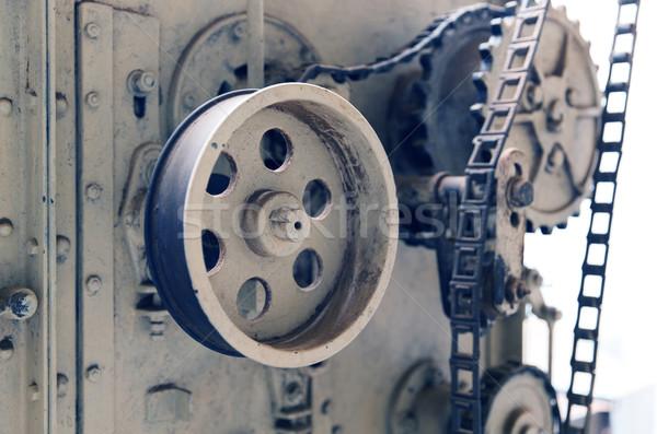 Bağbozumu makine mekanizma fabrika tarım sanayi Stok fotoğraf © dolgachov
