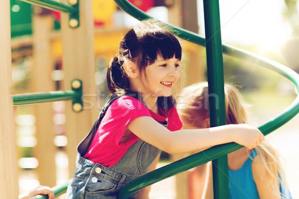 グループ 幸せ 女の子 子供 遊び場 夏 ストックフォト © dolgachov