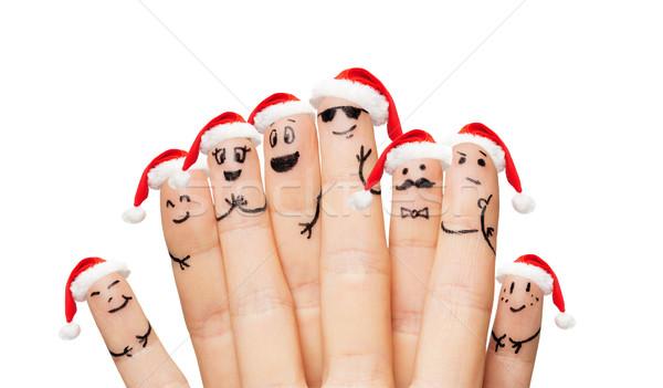Stockfoto: Handen · vingers · gezichten · familie