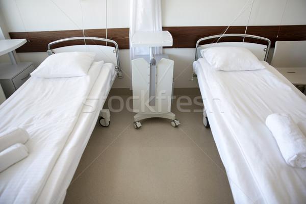 hospital ward with clean empty beds Stock photo © dolgachov