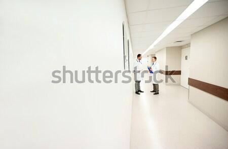 Gerincoszlop röntgen scan kórház műtét emberek Stock fotó © dolgachov