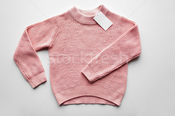 sweater or pullover with price tag Stock photo © dolgachov