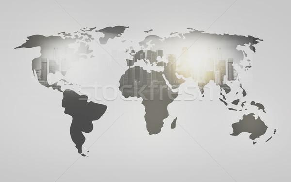 Мир карта город белый экономика карта Сток-фото © dolgachov