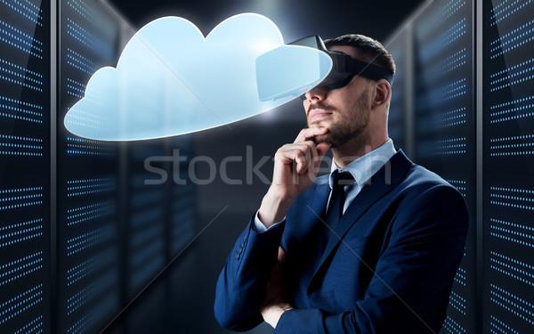 Affaires réalité casque nuage gens d'affaires Photo stock © dolgachov