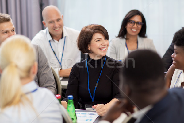 Stock photo: happy business team at international conference