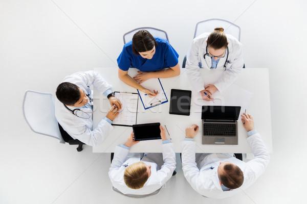 医師 心電図 コンピュータ 病院 薬 医療 ストックフォト © dolgachov