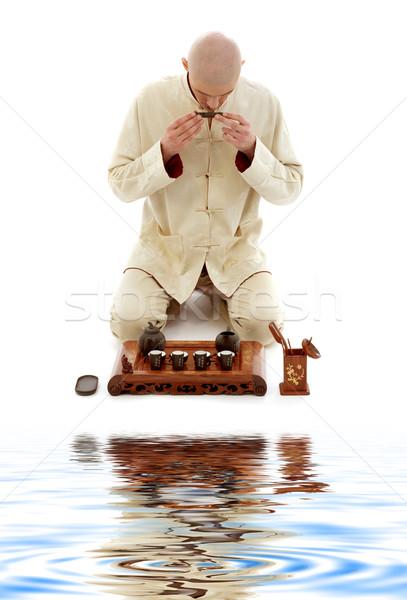 Tee Feier Master hellen Bild Arbeit Stock foto © dolgachov
