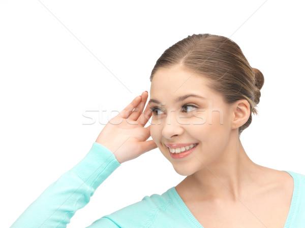 woman listening gossip Stock photo © dolgachov