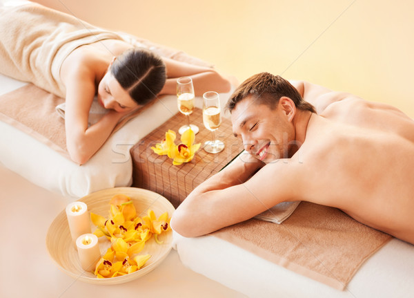 couple in spa Stock photo © dolgachov