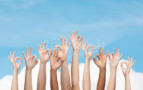 Humanos manos signo gesto Foto stock © dolgachov