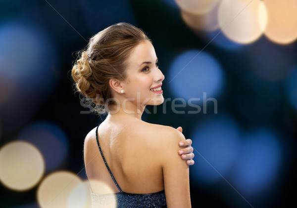 Sorrindo vestido de noite pessoas férias glamour noite Foto stock © dolgachov