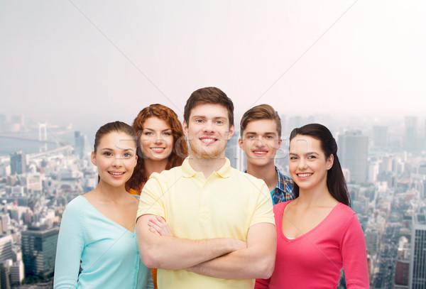 グループ 笑みを浮かべて 青少年 市 友情 生活 ストックフォト © dolgachov