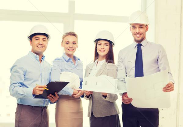 Boldog üzleti csapat iroda üzlet építészet csapat Stock fotó © dolgachov