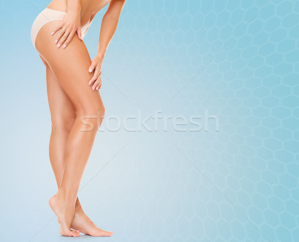 женщину длинные ноги хлопка трусики люди здоровья Сток-фото © dolgachov