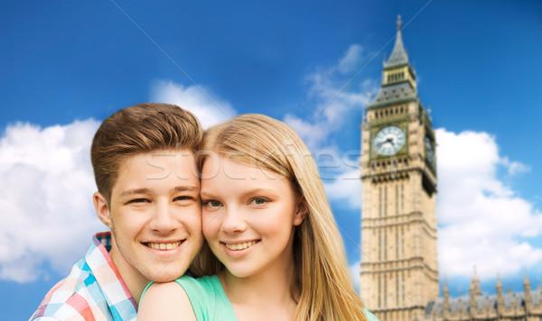 幸せ カップル ビッグベン 塔 ロンドン 旅行 ストックフォト © dolgachov