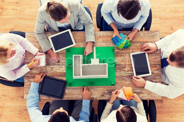 Business-Team Projekt Layout Geschäftsleute Teamarbeit Stock foto © dolgachov