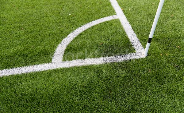 close up of football field corner with marker Stock photo © dolgachov