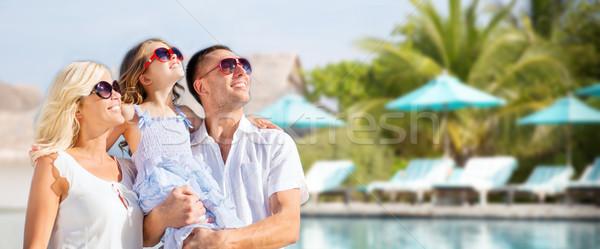 Foto stock: Familia · feliz · hotel · Resort · piscina · verano · vacaciones