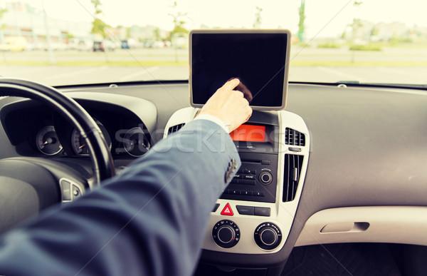 ストックフォト: 若い男 · 運転 · 車 · 輸送
