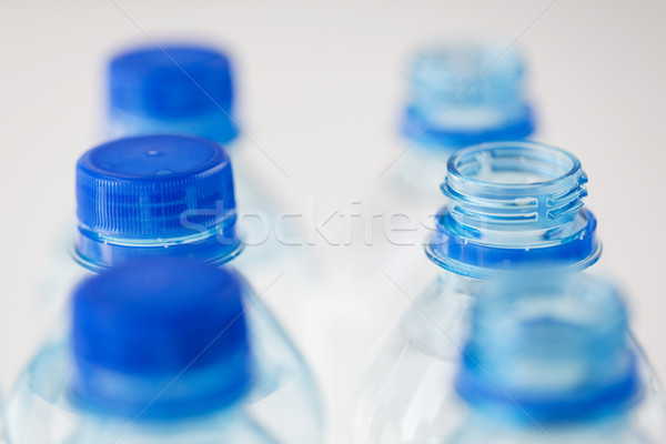close up of plastic bottles with drinking water Stock photo © dolgachov