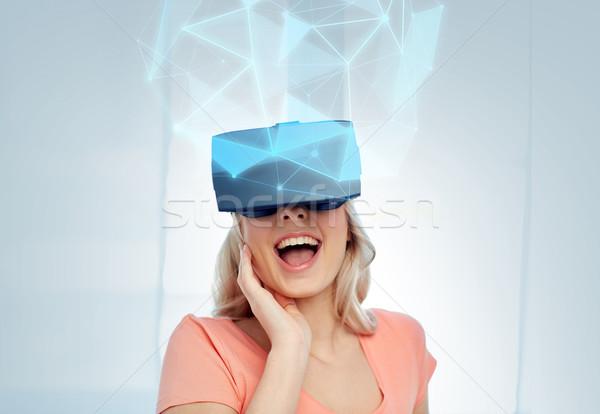 女性 バーチャル 現実 ヘッド 3dメガネ 技術 ストックフォト © dolgachov