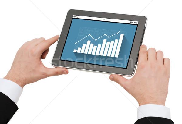 Stockfoto: Handen · grafiek · zakenlieden