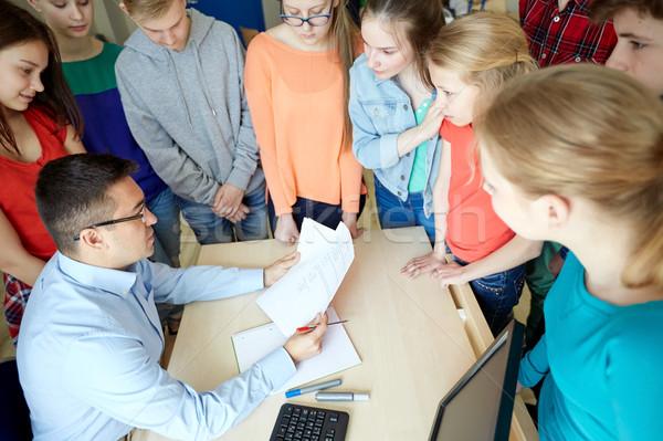 Сток-фото: группа · студентов · учитель · школы · образование · обучения