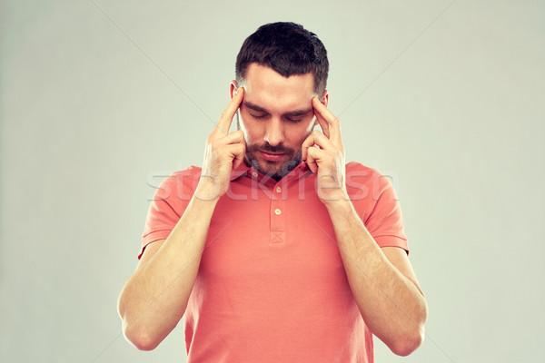 человека страдание голову боль мышления люди Сток-фото © dolgachov