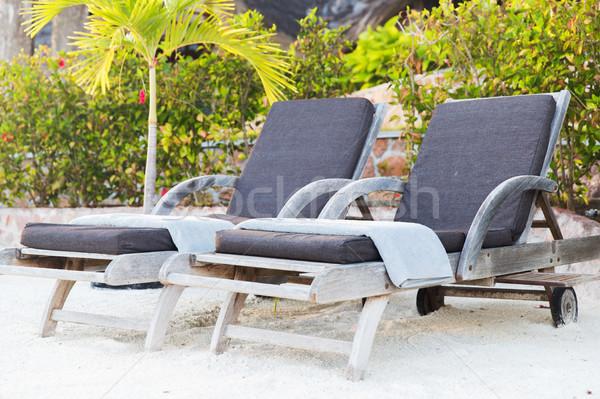 Exotique Resort plage Voyage tourisme loisirs Photo stock © dolgachov