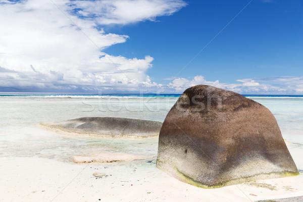 острове пляж индийской океана Сейшельские острова путешествия Сток-фото © dolgachov
