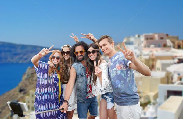 Hippie amigos palo turismo viaje Foto stock © dolgachov